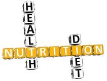 palavras cruzadas da dieta da saúde da nutrição 3D Imagem de Stock Royalty Free