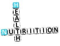 palavras cruzadas da dieta da saúde da nutrição 3D Imagens de Stock Royalty Free