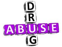 palavras cruzadas da droga do abuso 3D Fotografia de Stock