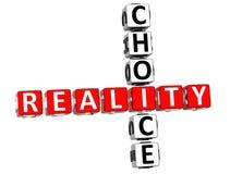 palavras cruzadas da escolha da realidade 3D Foto de Stock