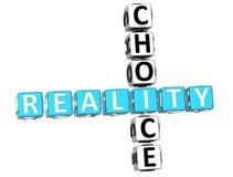 palavras cruzadas da escolha da realidade 3D Fotografia de Stock Royalty Free