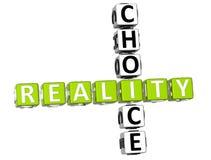 palavras cruzadas da escolha da realidade 3D Imagem de Stock