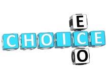 palavras cruzadas da escolha de 3D Eco Fotografia de Stock