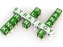 Palavras cruzadas da estratégia Foto de Stock Royalty Free