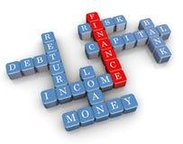palavras cruzadas da finança 3d Imagem de Stock Royalty Free