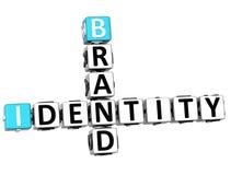 palavras cruzadas da identidade de marca 3D Fotografia de Stock