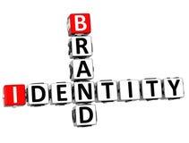 palavras cruzadas da identidade de marca 3D Foto de Stock Royalty Free