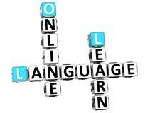palavras cruzadas da língua 3D espanhola Imagem de Stock Royalty Free