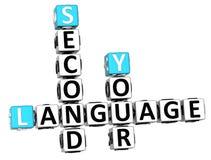 palavras cruzadas da língua 3D espanhola Foto de Stock