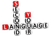 palavras cruzadas da língua 3D espanhola Fotos de Stock Royalty Free
