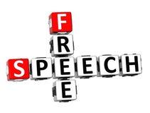 palavras cruzadas da liberdade de expressão 3D ilustração stock