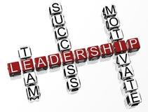 Palavras cruzadas da liderança Imagens de Stock