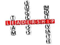 palavras cruzadas da liderança 3D Fotos de Stock Royalty Free