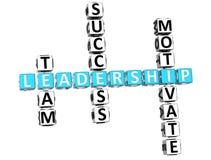 palavras cruzadas da liderança 3D Imagens de Stock Royalty Free