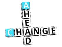 palavras cruzadas da mudança 3D adiante Imagens de Stock