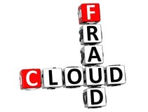 palavras cruzadas da nuvem da fraude 3D Foto de Stock