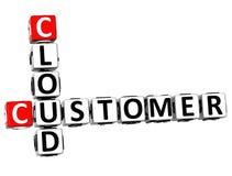 palavras cruzadas da nuvem do cliente 3D Fotos de Stock Royalty Free