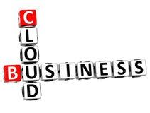 palavras cruzadas da nuvem do negócio 3D Imagem de Stock Royalty Free