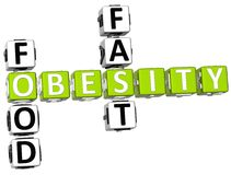 Palavras cruzadas da obesidade do fast food Imagem de Stock Royalty Free