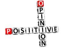 palavras cruzadas da opinião 3D positiva Fotografia de Stock