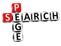 palavras cruzadas da página da busca 3D no fundo branco Foto de Stock Royalty Free