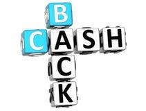 palavras cruzadas da parte traseira do dinheiro 3D Ilustração Stock