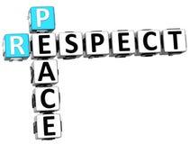 palavras cruzadas da paz do respeito 3D Imagem de Stock Royalty Free