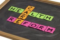 Palavras cruzadas da reforma dos cuidados médicos fotos de stock