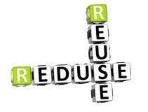 palavras cruzadas da reutilização de 3D Reduse ilustração royalty free