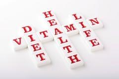 Palavras cruzadas da saúde Imagens de Stock