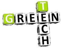 palavras cruzadas da tecnologia do verde 3D Imagens de Stock