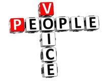 palavras cruzadas da voz dos povos 3D Foto de Stock Royalty Free