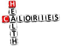 palavras cruzadas das calorias da saúde 3D Fotografia de Stock