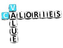 palavras cruzadas das calorias do valor 3D Foto de Stock Royalty Free