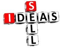 palavras cruzadas das ideias da venda 3D Fotografia de Stock