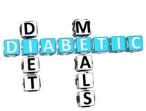 Palavras cruzadas das refeições da dieta de diabético Fotos de Stock
