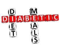Palavras cruzadas das refeições da dieta de diabético Foto de Stock