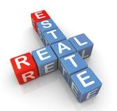 Palavras cruzadas de bens imobiliários Imagem de Stock Royalty Free