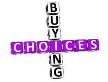 palavras cruzadas de compra das escolhas 3D Imagens de Stock
