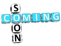 palavras cruzadas de 3D Cooming logo Imagens de Stock