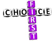 palavras cruzadas de 3D First Choice Foto de Stock