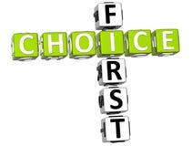 palavras cruzadas de 3D First Choice Fotos de Stock