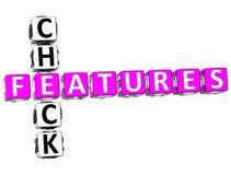 palavras cruzadas de Freatures da verificação 3D Imagem de Stock Royalty Free