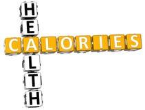 palavras cruzadas de Healt das calorias 3D Fotografia de Stock