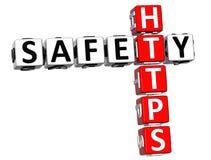 palavras cruzadas de Https da segurança 3D Imagem de Stock Royalty Free