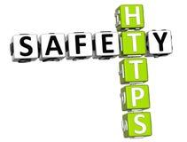 palavras cruzadas de Https da segurança 3D Imagem de Stock
