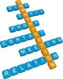 Palavras cruzadas de uma comunicação Fotos de Stock Royalty Free