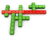 Palavras cruzadas de uma comunicação Fotos de Stock