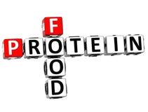 palavras cruzadas do alimento da proteína 3D Imagens de Stock Royalty Free