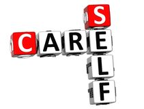 palavras cruzadas do auto do cuidado 3D Fotografia de Stock